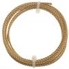 Artistic Wire - Braid 12ga Round Non-tarnish Brass 5Ft